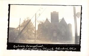 Cleveland Ohio Calvary Evangelical View Real Photo Antique Postcard K16424