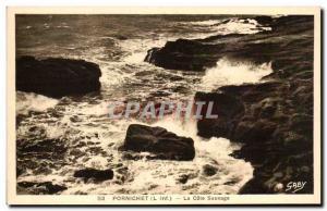 Old Postcard Pornichet La Cote Sauvage