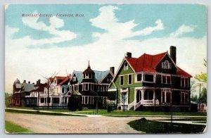 Escanaba MI~Michigan Avenue Mansions~3 Story Victorian Homes~Sandy City~1908