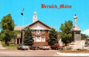 Maine Berwick Sullivan Square Lena Clark Memorial Town Hall and Soldiers Monu...