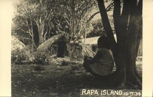 french polynesia, RAPA Island, Byrd Antarctic Expedition III (1939) RPPC (2)