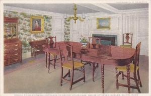 Dining Room Showing Entrance To Secret Stair Case House Of Seven Gables Salem...
