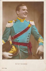 Hungarian actor Ernst Verebes german military uniform helmet early postcard