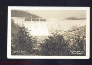 RPPC NORRIS DAM TENNESSEE #22 RELL CLEMENTS VINTAGE REAL PHOTO POSTCARD