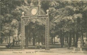 BATH NEW YORK 1913 Pultney Park postcard 4041