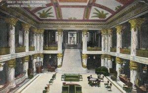 RICHMOND , Virginia , 1909;  Grand staircase, Jefferson Hotel