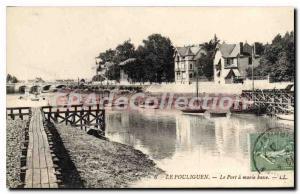 Old Post Card Pouliguen Port tide BASED