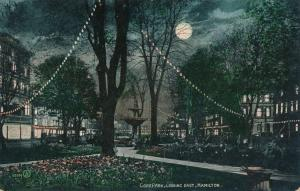 Gore Park at Night - Hamilton, Ontario, Canada - pm 1909 - DB