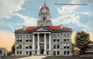 G87/ Shiawassee County Michigan Postcard c1910 Court House Building 1