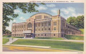 LAKE PLACID, New York, 1930-40s; Olympic Arena, Adirondack Mtns.