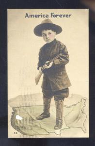 AMERICA FOREVER BOY WITH GUN SEDALIA MISSOURI MARSHALL MO. SCHIESZER