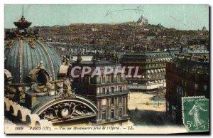 Old Postcard View Of Paris Montmartre Taking L & # 39Opera