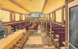 Mason City Iowa~Green Mill Cafe~Booths~Lunch Counter~Ate at Table X~1953 Linen