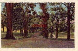 DRIVEWAY FROM FRONT VERANDA OF NEW ENGLAND SANITARIUM & HOSPITAL MELROSE, MA