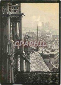Modern Postcard Dijon Saint Philibert from the south tower of St. benign to t...