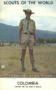 Colombia Boy Scouts of America, Scouting Postcard, Post Cards, Copyright 1968...
