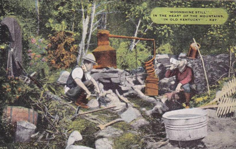 Moonshine Still In The Heart Of The Mountains, In Old Kentucky, Kentucky,...
