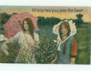 Divided-Back PRETTY WOMAN Risque Interest Postcard AA8039