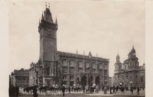 RP: PRAGUE , Czech Republic , 1920-40s; Hotel de ville and Town Hall