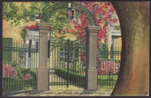 Entrance,Garden District,New Orleans,LA Postcard