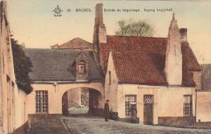 Bruges , Belgium , 00-10s ; Entree du beguinage. Ingang begijnhof