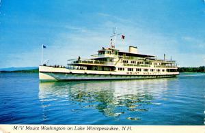 NH - Lake Winnipesaukee. Steamer M/V Mt Washington.  *RPO- Lake Winnipesaukee...