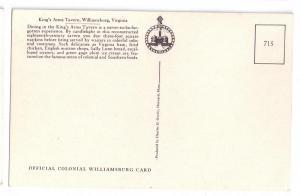 Williamsburg VA Kings Arms Tavern Charles Overly