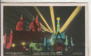 Postal  coloreada de epoca  0146 : Palau Nacional, vista Lateral, de Barcelona