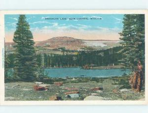 W-Border LAKE SCENE Laramie Wyoming WY F4076