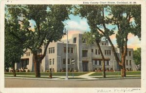 Carlsbad New Mexico~Eddy County Court House~1941 Postcard