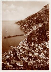 Amalfi Italy Panorama Col Porto UNUSED Real Photo Postcard D59