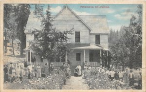F81/ Pineridge California Postcard 1919 Orphanage? Kids Home