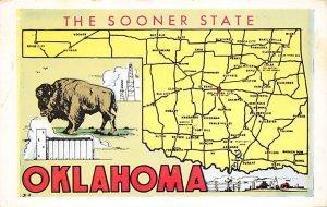 Maps Oklahoma USA 1956