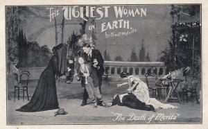 The Ugliest Woman On Earth Fred Melville Theatre Advertising Postcard