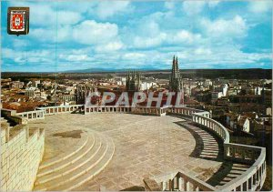 Modern Postcard Burgos Partial View of the Mirador du Chateau