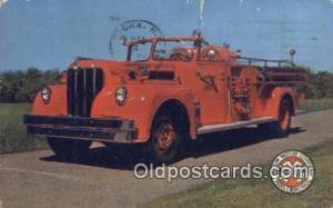 Maxim 1000 GPM Pumper Johnson City, TN, USA Postcard Post Cards Old Vintage A...