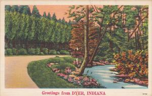 Greetings From Dyer Indiana 1951