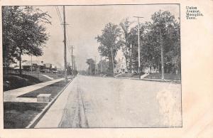 Memphis Tennessee~Union Avenue Homes~Coach Step on Curb~1905 B&W Postcard