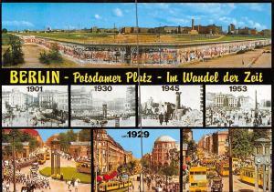Berlin Potsdamer Platz Im Wandel der Zeit Tram Auto Cars, The Wall Panorama