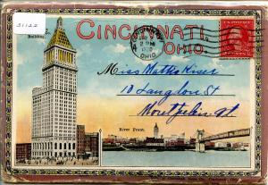 Folder - OH - Cincinnati  22 views+covers  (Label attached to sleeve, not fol...
