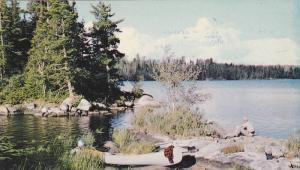 Canoe, Lunch Picnic Beside Kenogami Lake, Eventide Motel, Cottages, Restauran...