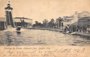 Dayton OH~Lakeside Amusement Park~Shoot the Chutes~Big Line For Theatre~1906 UDB