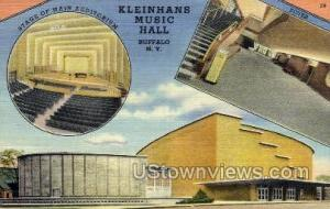 Kleinhans Music Hall Buffalo NY Unused