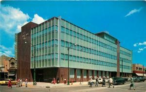 Autos Colorado Springs Colorado 1st National Bank 1950s Postcard Brunson 3787