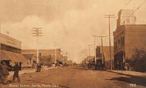 SANTA PAULA, CA Street Scene Ventura County ca 1910s Vintage Postcard