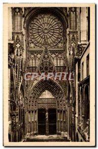 Old Postcard Rouen Cathedral and the Court of Libraries