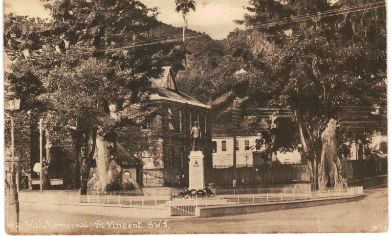 St Vincent War Memorial British West Indies 1910 Tuck's Unused BWI