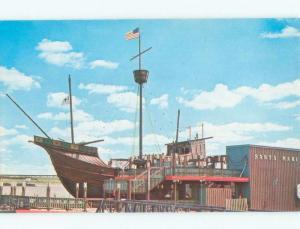Unused Pre-1980 SANTA MARIA SHIP BOAT AT ARCH St. Louis Missouri MO E6984