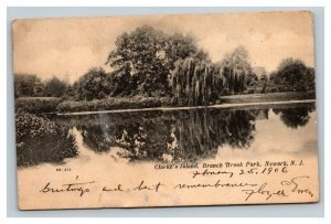 Vintage 1906 Photo Postcard Clarke Island Branch Brook Park Newark New Jersey