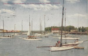 ST JOSEPH , Michigan , 1915 ; Chicago Yacht Club About to leave Harbor
